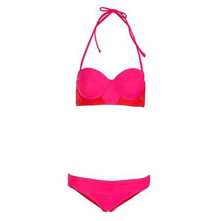 Bikini-Blockfarben-topshop