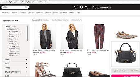 Snap it! Sale-Vergleich über shopstyle.de…