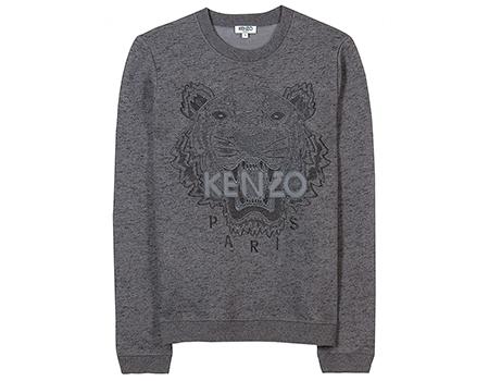 Kenzo-Tiger-Pullover-Sweatshirt-grau