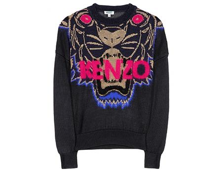 Kenzo-Tiger-Sweatshirt-Pullover-black