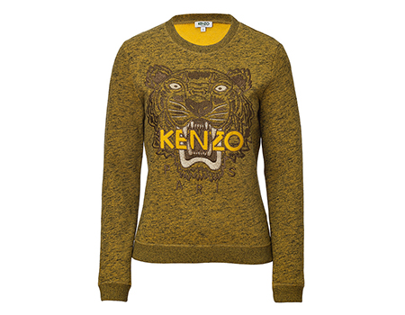 Kenzo-Tiger-Sweatshirt-Pullover-senfgelb