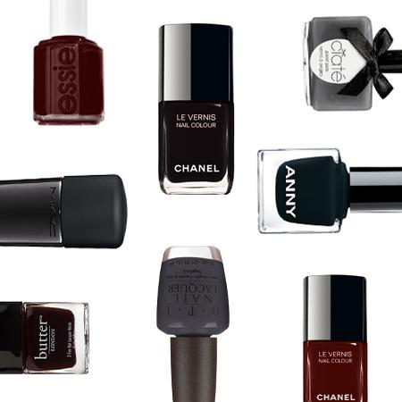 Grunge-Look für die Nägel: Dunkle Lacke in Schwarz, Grau oder Rot rocken…