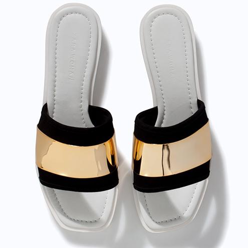 Zara-Sandale-Schlappen-Badelatschen-gold
