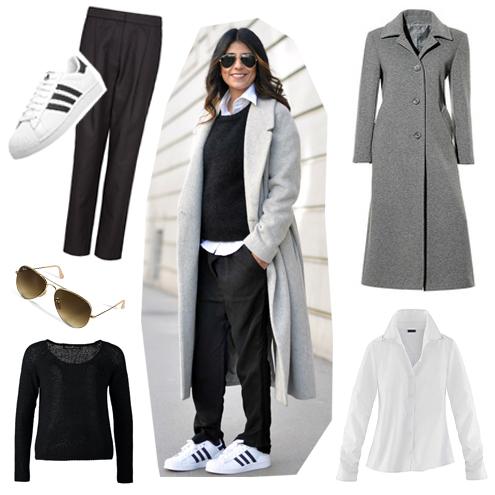 streetstyle-nachkaufen-trend-wadenlanger-mantel-grau-adidas-superstar