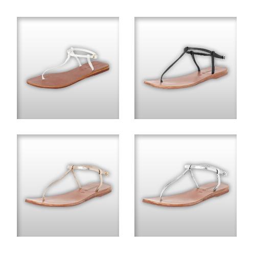 Pick of the Week // Hallhuber-Sandalen in Silber, Gold, Schwarz oder Weiß…
