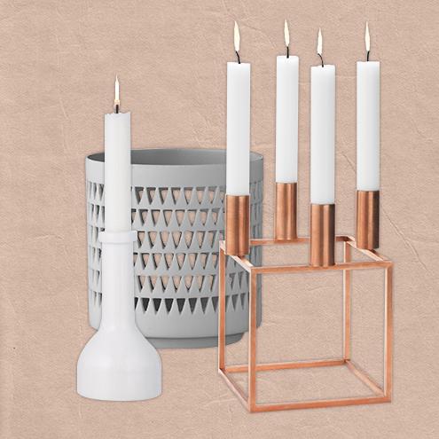 Home Inspirations Dekoration mit Kerzen