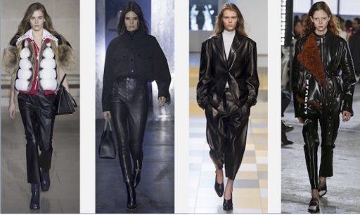 Trend weite Lederhose Bundfalten