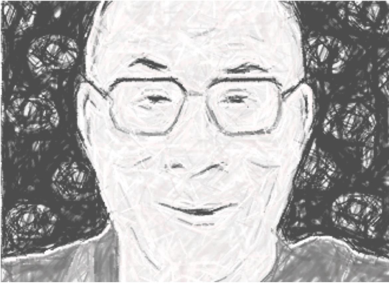 Kinder sprechen mit dem Dalai Lama